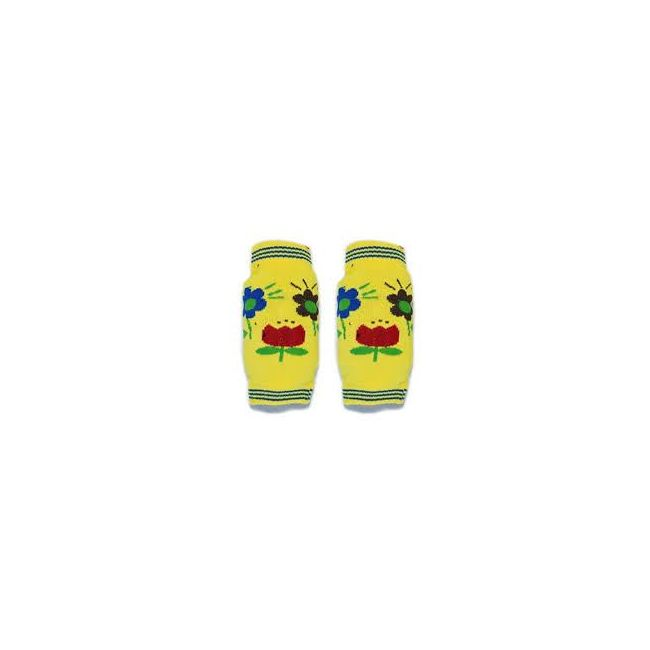 B-Safe Yellow Knee Protectors Flower