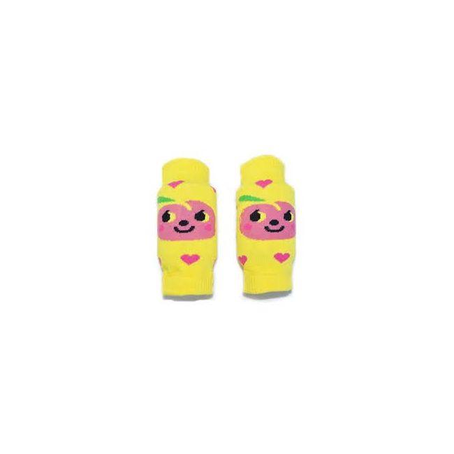 B-Safe Yellow Knee Protectors Pink Hearts