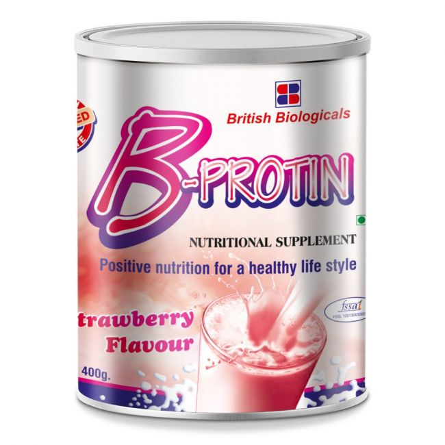 B-Protin - Nutritional Supplement 400g - Strawberry Flavour