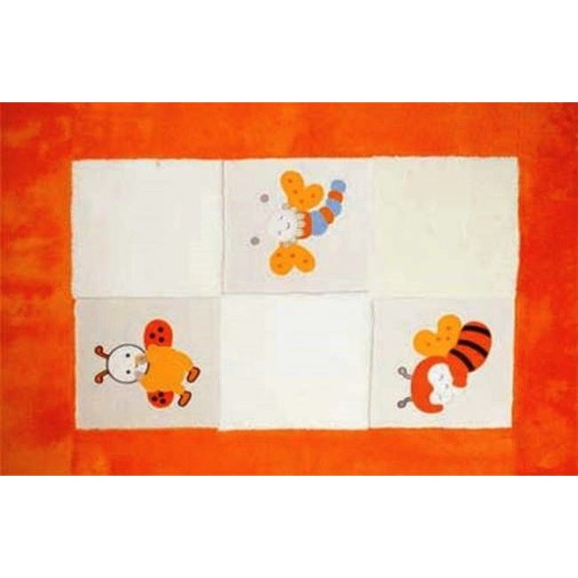 Mamma Orange Bee Baby Room Carpet