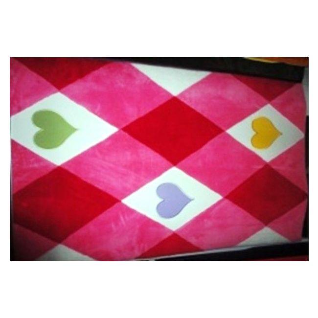Mamma Pink Hearts Baby Room Carpet