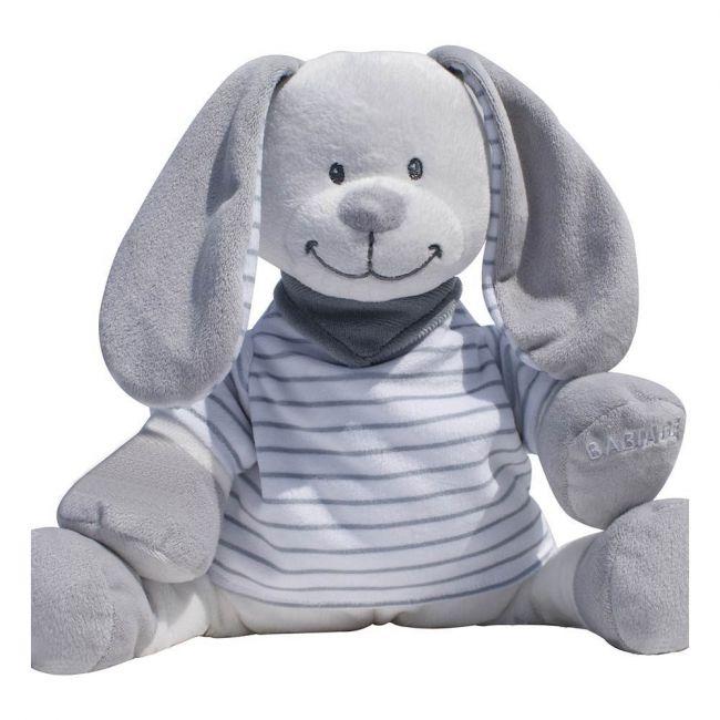 Babiage Doodoo Back-to-sleep baby monitor - Grey Stripes Rabbit Doodoo