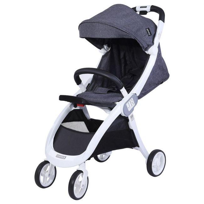 Baby Plus Baby Stroller Cum Pram - Grey