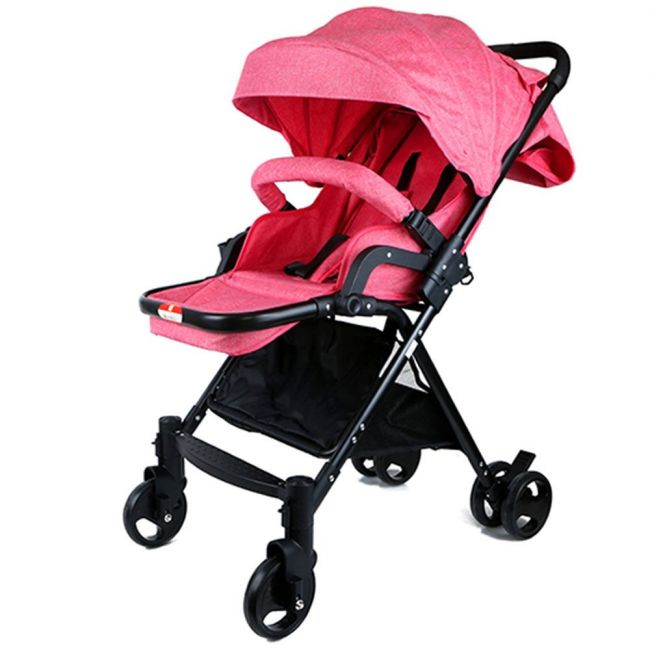Baby Plus Pink Baby Stroller - 0-36 months