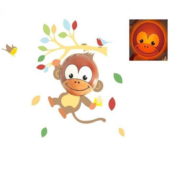 Baby Zoo Timer-based Cordless Wall Decor Light - Monkey