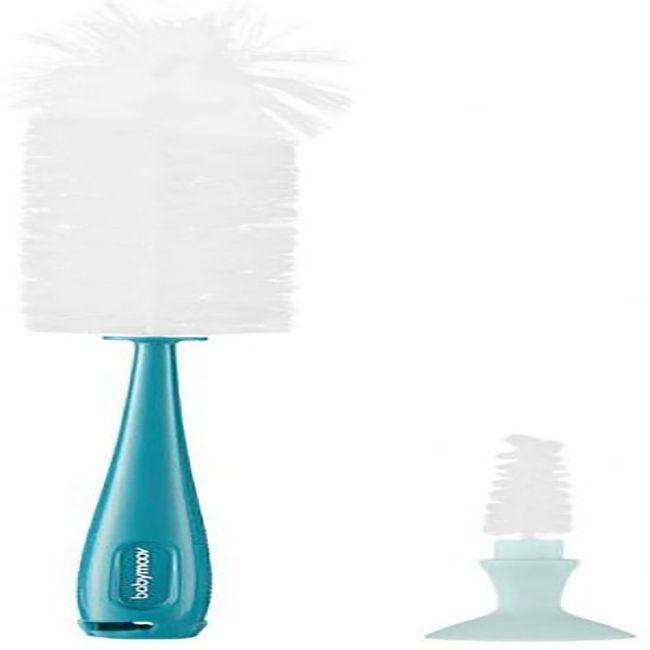 Babymoov - 2 in 1 Baby Bottle Brush - Blue