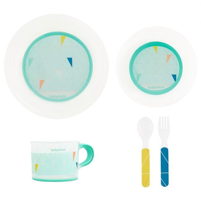 Babymoov - Anti-slip Feeding Set - Azur