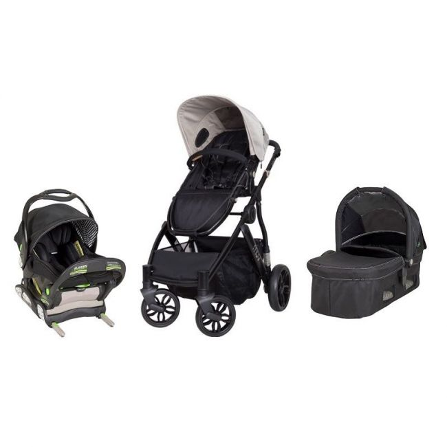 Babytrend Reis Stroller + Infant Car Seat + Carrycot, Beige