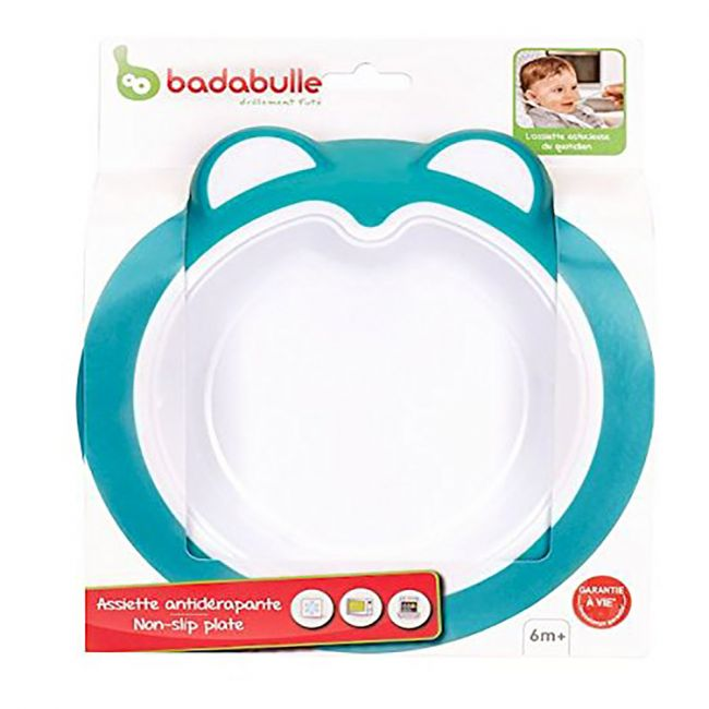 Badabulle - Baby Anti Slip Plate - Ice Blue
