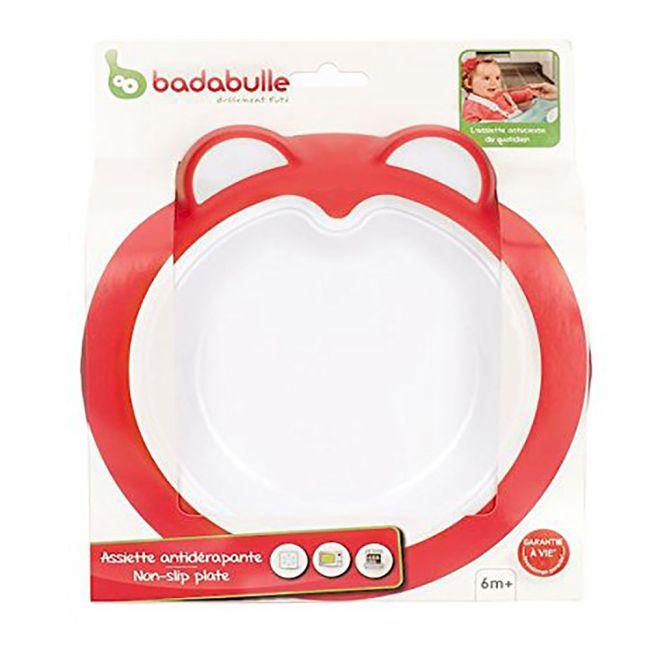 Badabulle - Baby Anti Slip Plate - Intense pink