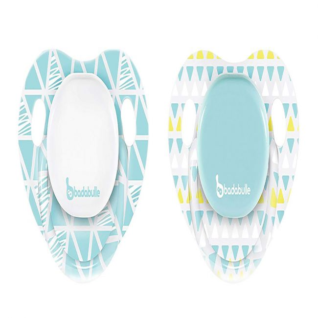 Badabulle - Babyboy Physiological Soother - 2pcs - Drawing Lines