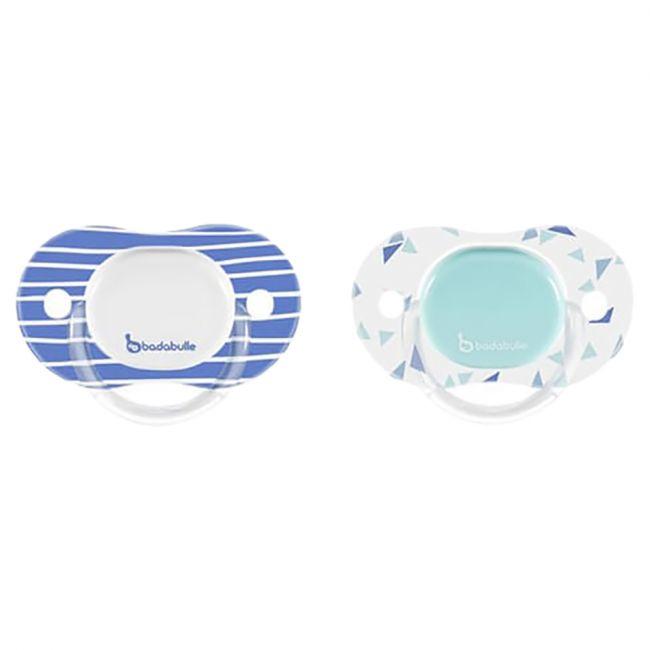 Badabulle - Babyboy Reversible Soother - 2pcs - Silicone Mariniere