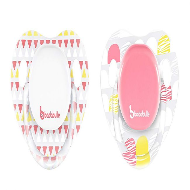 Badabulle - Babygirl Physiological Soother - 2pcs - Girl Drawing Lines
