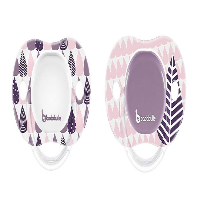 Badabulle - Babygirl Reversible Soother - 2pcs - Silicone Pink tree