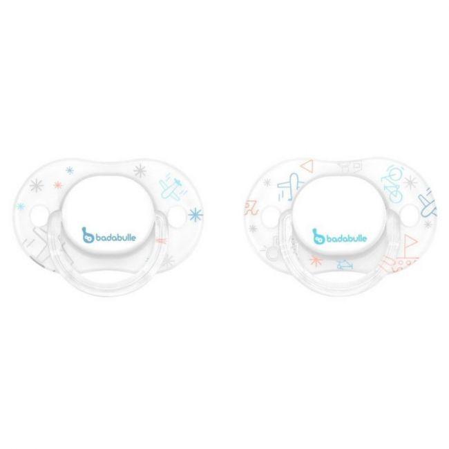 Badabulle - Glitter Babyboy physiological Pacifiers - 2pcs