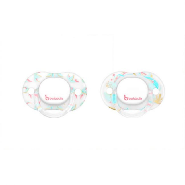 Badabulle - Glitter Babygirl physiological Pacifiers - 2pcs