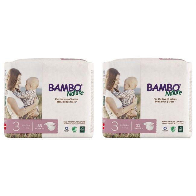 Bambo Nature - Eco Friendly Diapers, Dream Midi, Size 3, 5-9 Kg - 66 Pcs