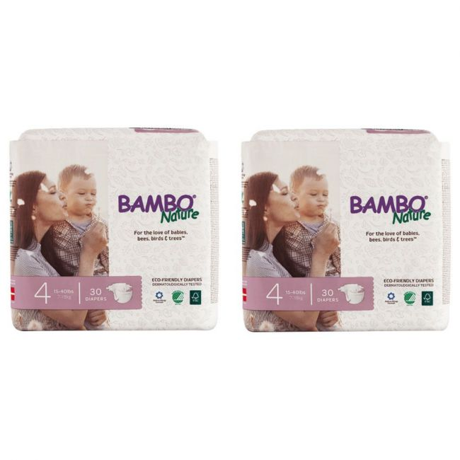 Bambo Nature - Eco Friendly Diapers, Dream Size 4, 7-18 Kg - 60 Pcs