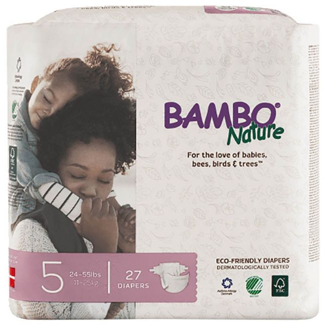 Bambo Nature - Eco-Friendly Diapers, Dream Size 5, 12-22 Kg - 27 Pcs