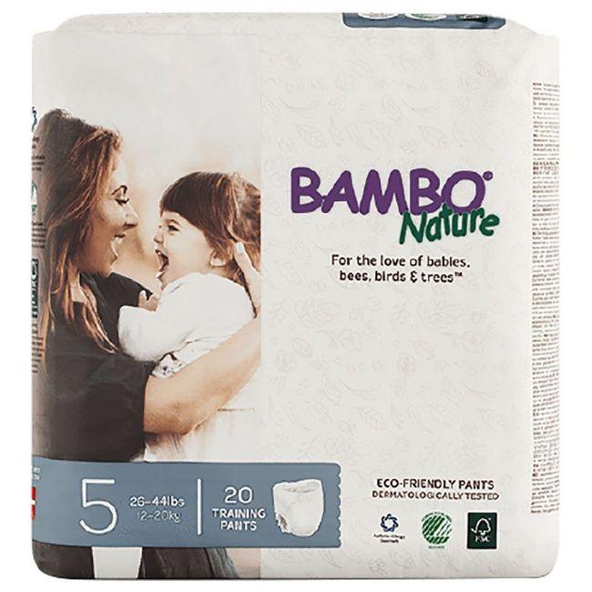 Bambo Nature - Eco Friendly Diapers Pants, Junior 5, 12-20 kg - 20 Pcs