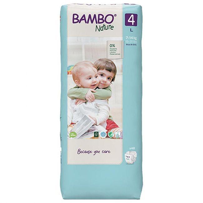 Bambo Nature - Eco-Friendly Diaper, Size 4, Tall 7-14 Kg - 48 Pcs