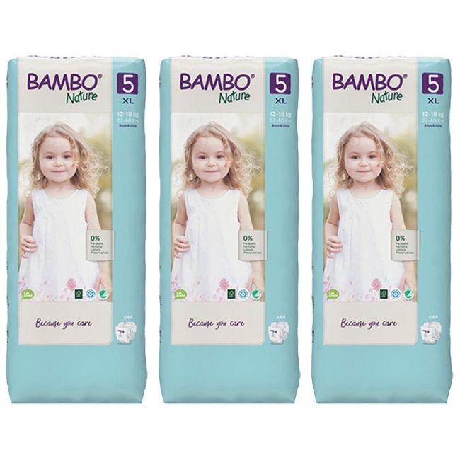 Bambo Nature  - Eco-Friendly, Diaper Size 5, Tall 12-18 kg - 132pcs