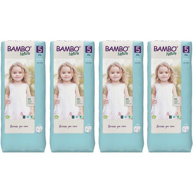 Bambo Nature - Eco-Friendly, Diaper Size 5, 12-18 kg - 176pcs