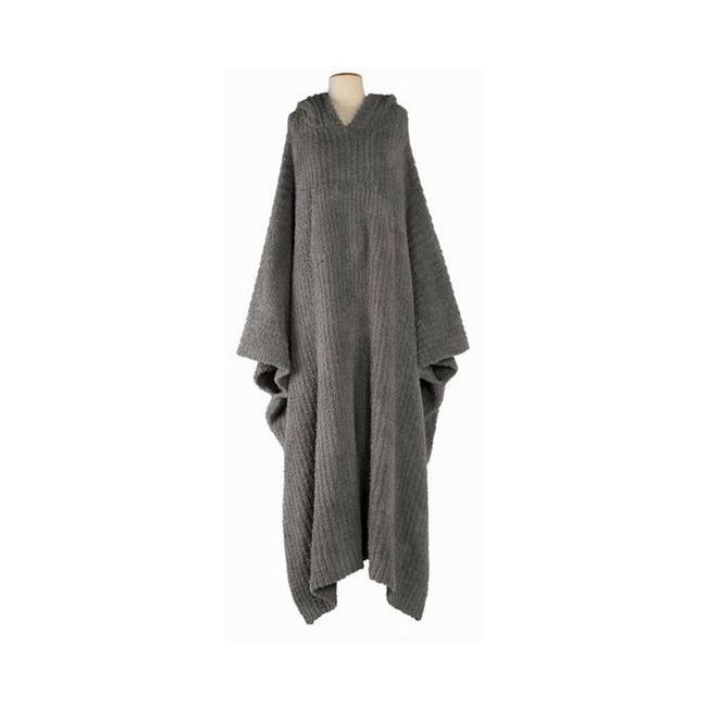 Barefoot Dreams Charcoal Cozychic Long Ribbed Cozy One Size Wrap