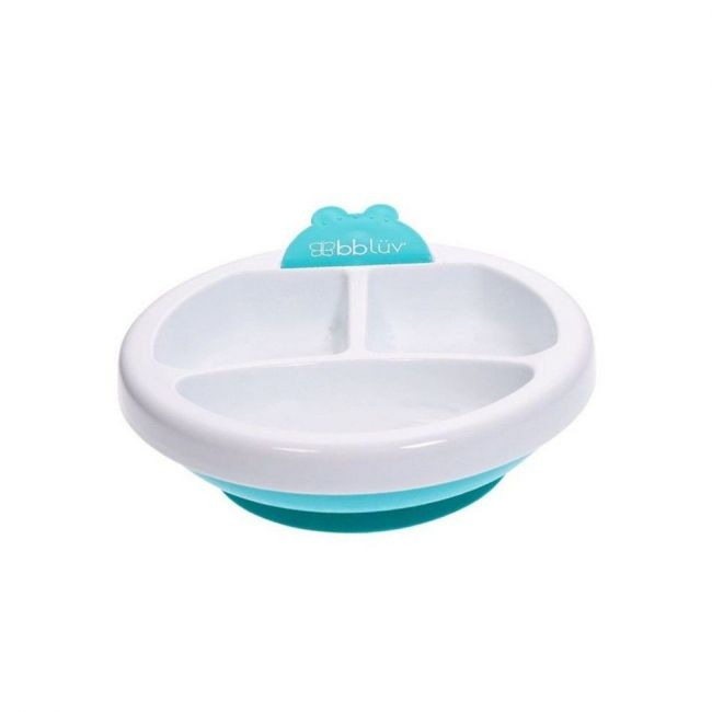 Bbluv Warm Feeding Plate - Aqua/White