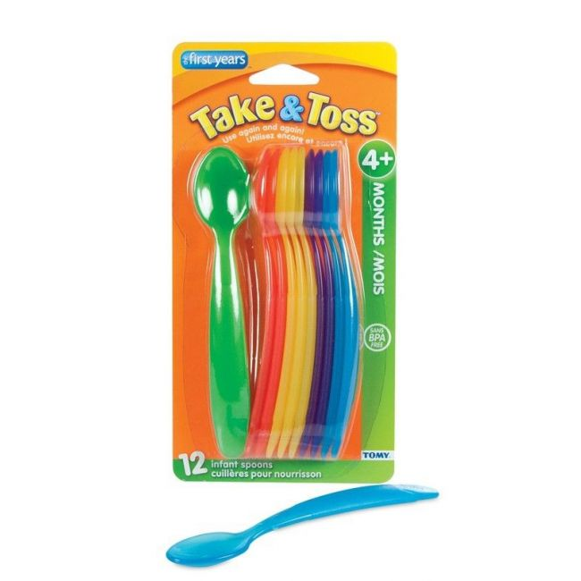 The First Years Take & Toss - Infant Spoons 12 pk-