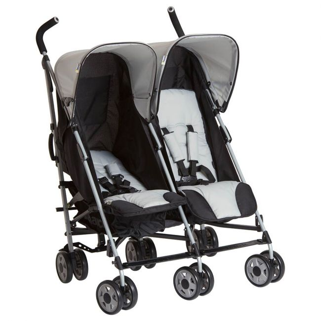 Hauck Stone Grey Turbo Double Stroller