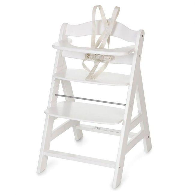 Hauck Alpha + B White High Chair