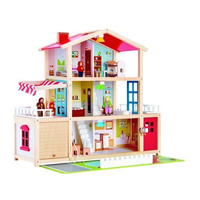 Hape - Doll Family Mansion For Girls