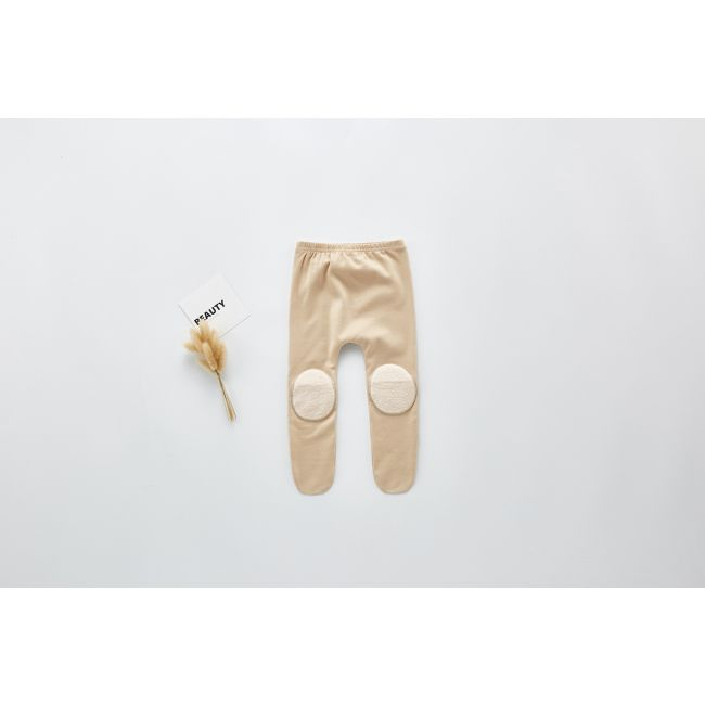 Beaux Bambino - Outerwear Leggings with Knee Pad Detail Beige
