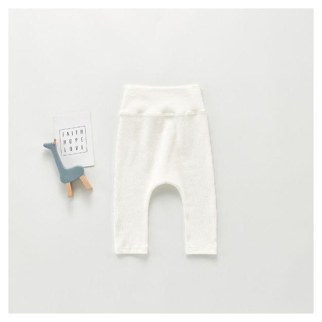 Beaux Bambino - Unisex Ribbed Leggings White