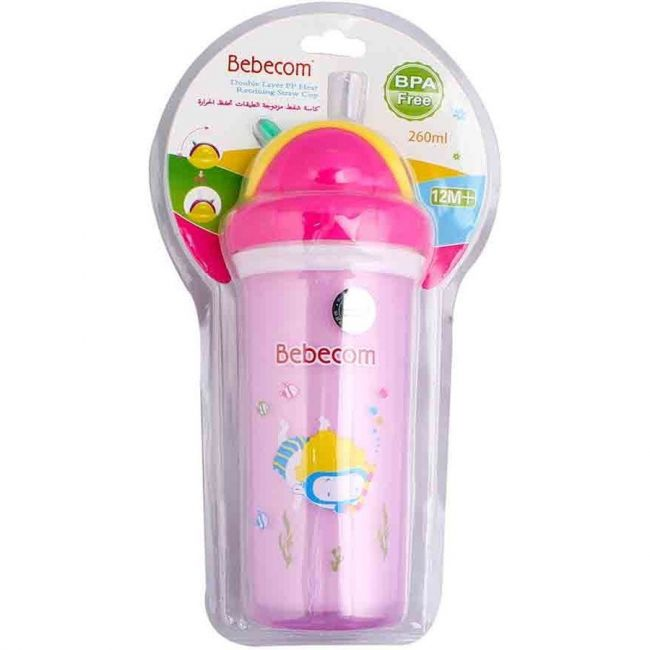Bebecom Double Layer Water Cup 260ml - Assorted