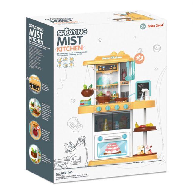 Beibe Good - 43 Pcs Spraying Mist Kitchen Set With Light And Sound For children
