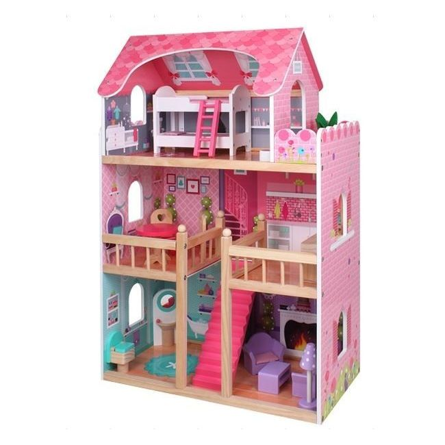 Eureka Kids - Pink Big Dolls House For Girls