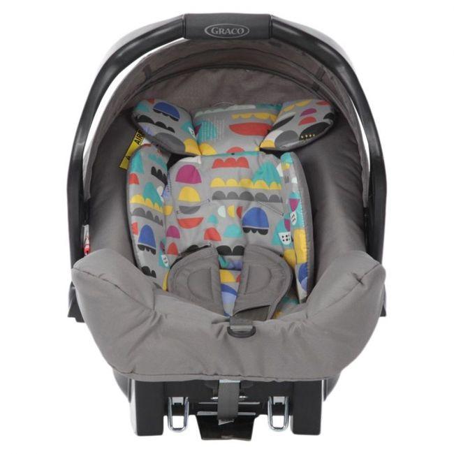 Graco Grey Junior Baby High End Carseat - Pop