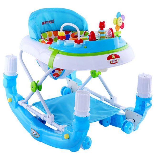 Baby Plus - Baby Walker Cum Rocker Polka Dots - Blue