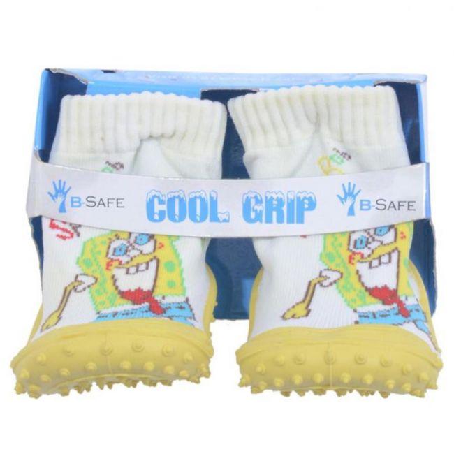 Cool Grip Baby Shoe Socks Sponge Bob - White/Yellow