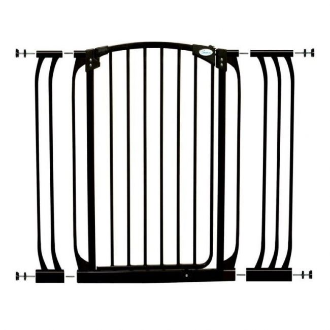 Dreambaby Black Chelsea Tall Gate & Extension Set 1 Gate + Extension