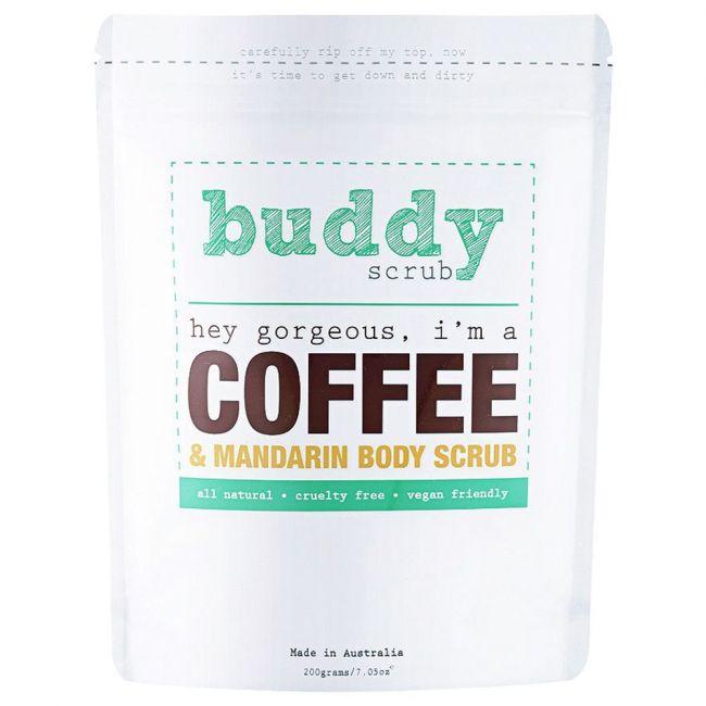 Buddy Scrub - Coffee & Mandarin Natural Body Scrub - 200g