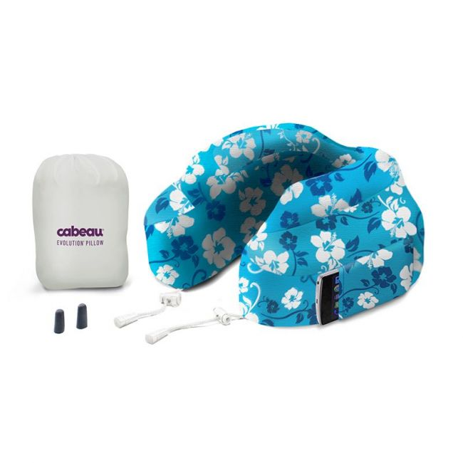 Cabeau Evolution Memory Foam Travel Neck Pillow - Blue Tropic