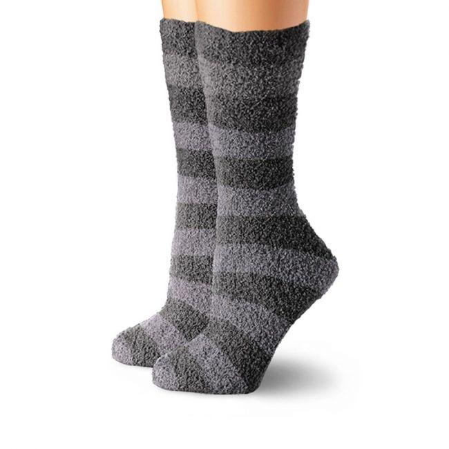 Cabeau Fluffy Socks Charcoal