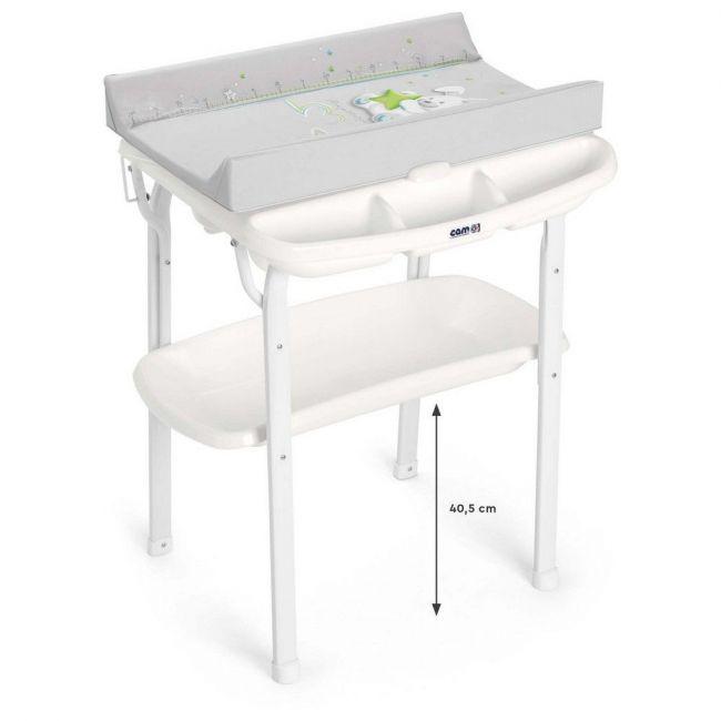 Cam Aqua Bathroom Changing Table - Grey