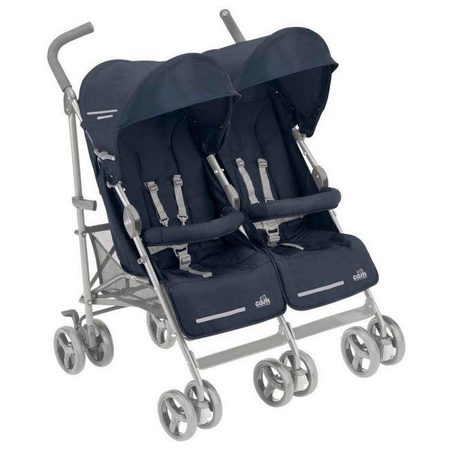 Cam Twin Flip Stroller - Navy