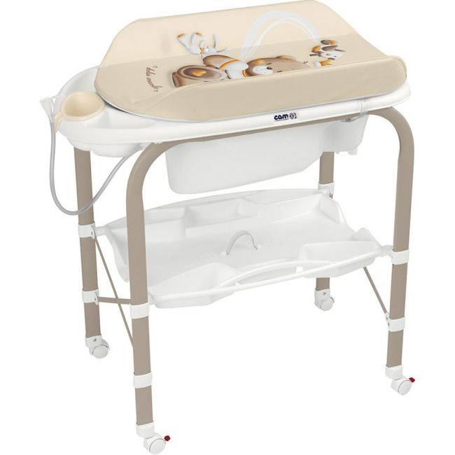 Cam Bath Tub and Changing Station - Brown Bear