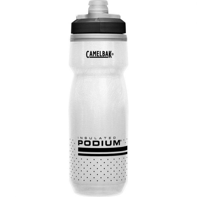 Camelbak Podium Chill 21 oz Bike Water Bottle - White-Black