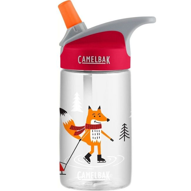 CamelBak Eddy Kids Foxes On Ice Holiday Water Bottle - 0.4L